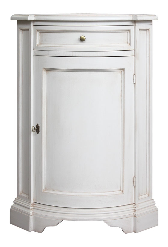 Wooden corner cabinet for entryway