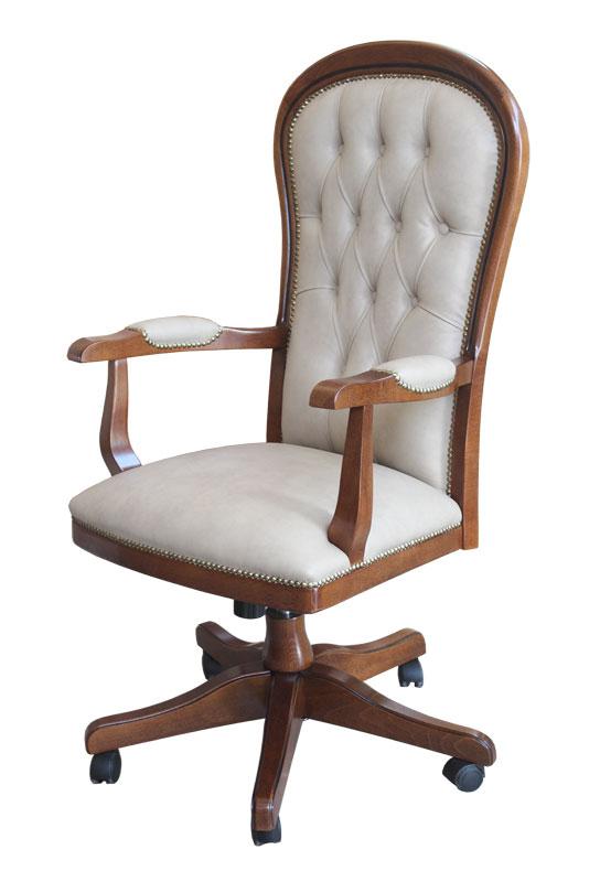 Eco-leather swivel armchair Dinamic Eco