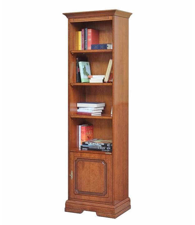 Space saving bookcase with door