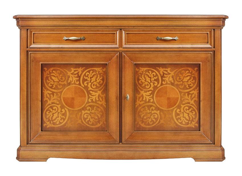 Inlaid solid wood sideboard
