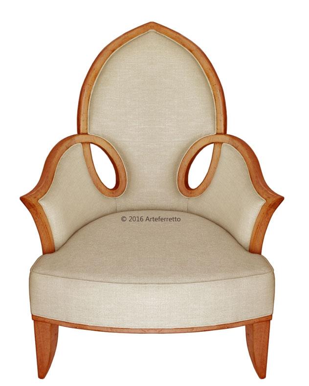 Shaped armchair Top Design