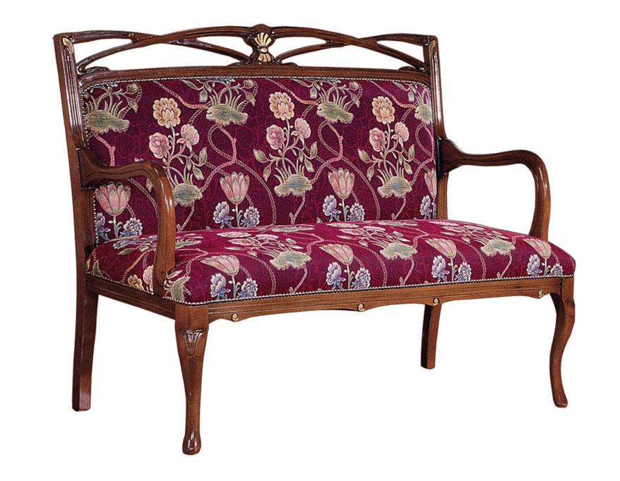 Traditional wood sofa Helena Burst style