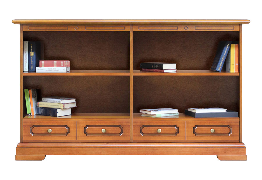 Low bookcase double width