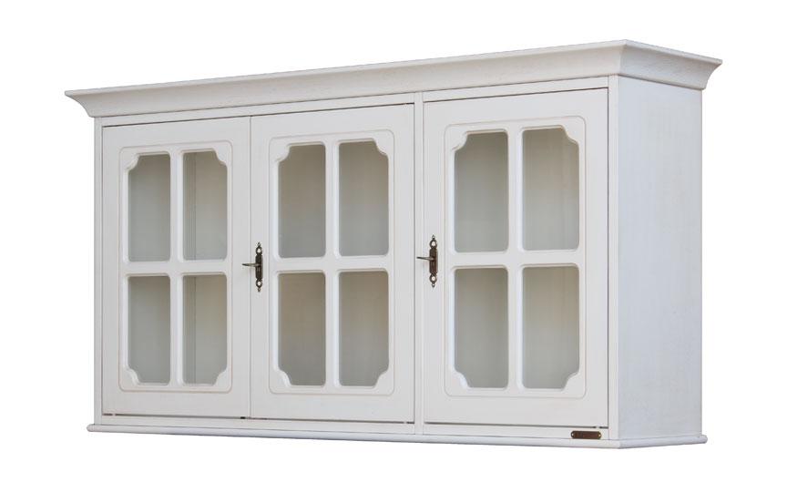 Wall display cabinet 3 glass doors