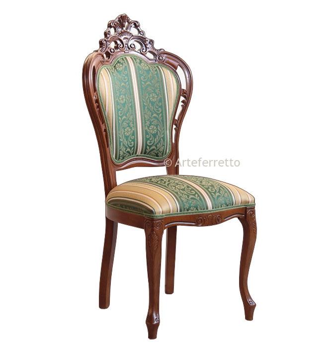 Pierced wooden chair