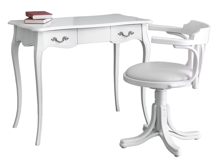 White desk and chair set
