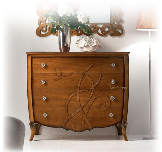 Decorated dresser elegant bedroom