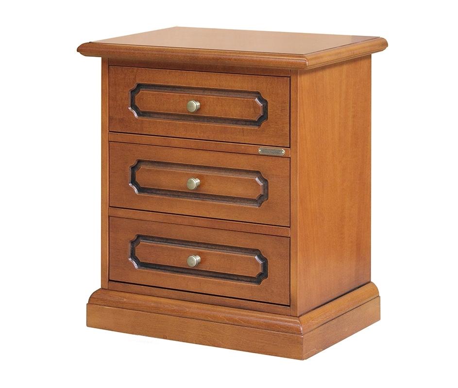 Classic 3 drawer nightstand