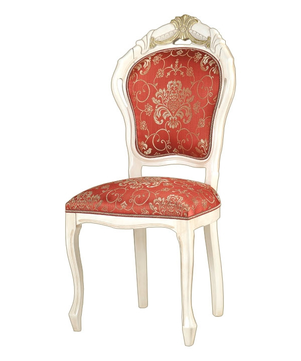 Carved chair with decorations