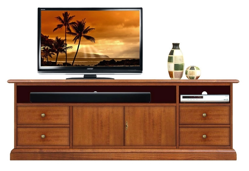 Tv stand with soundbar shelf 160 cm