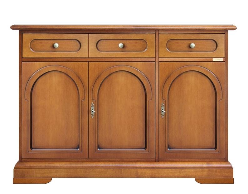 Wooden sideboard buffet 3 doors