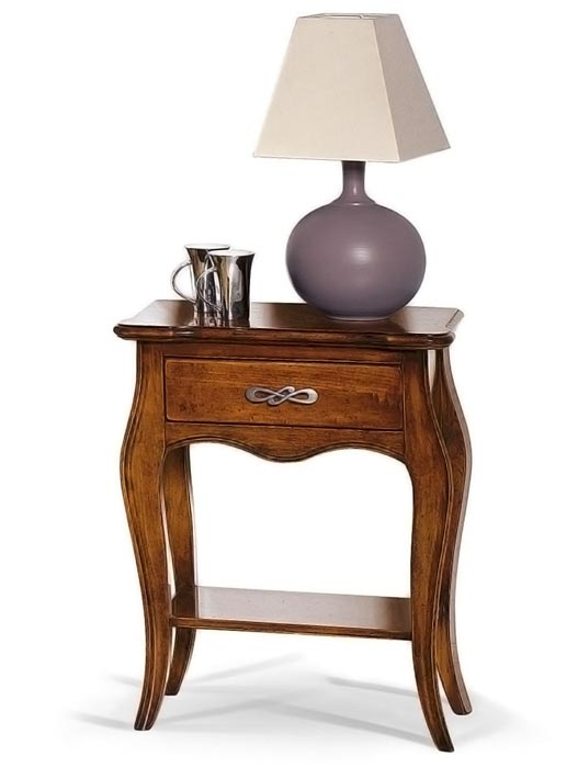 Nightstand with shaped drawer