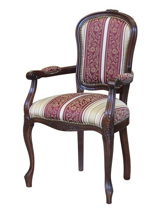 Wooden upholstered armchair Brianzola