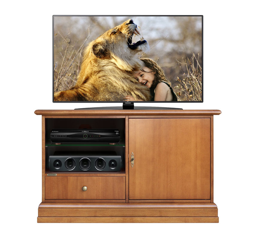 Smalll tv cabinet in solid wood Simply