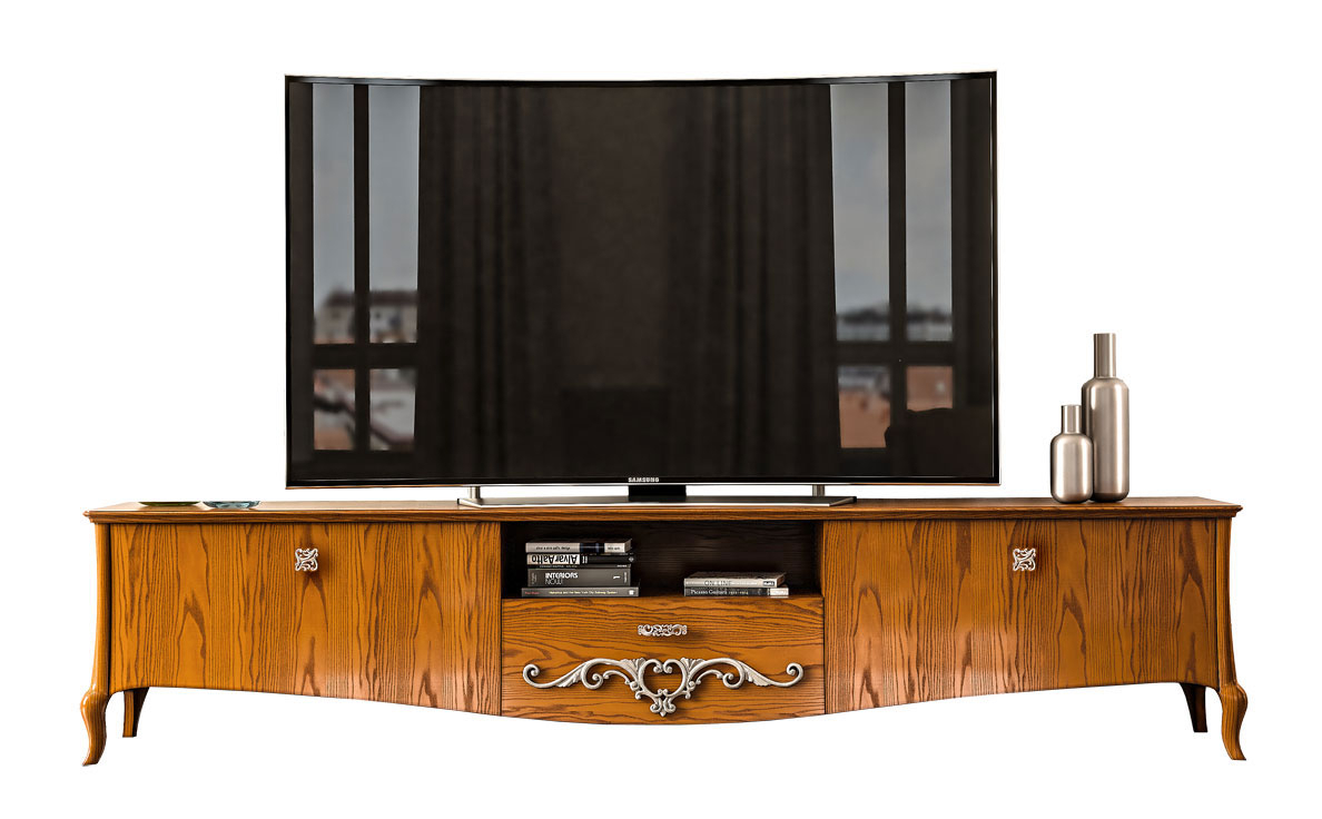 Low tv unit in wood Chic and wood