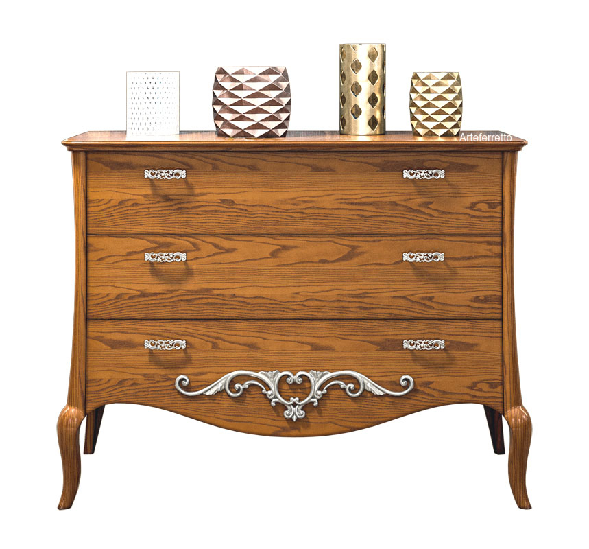 3 drawer dresser in wood Romantico