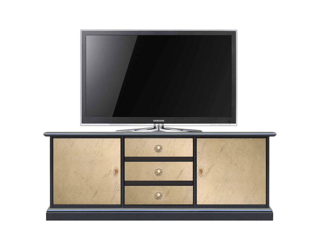 Two tone tv cabinet in wood Riace