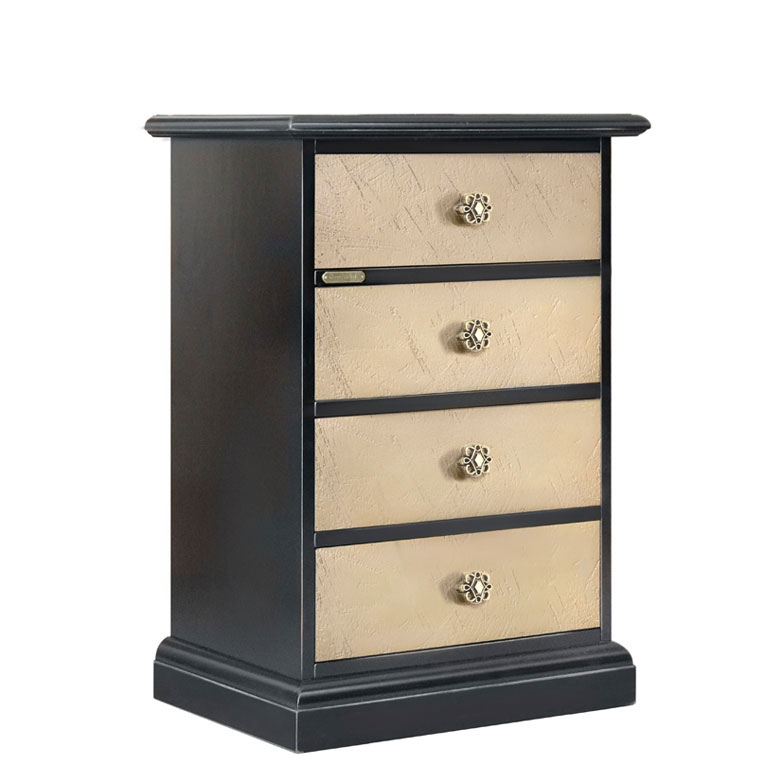 Two tone nightstand in wood Riace