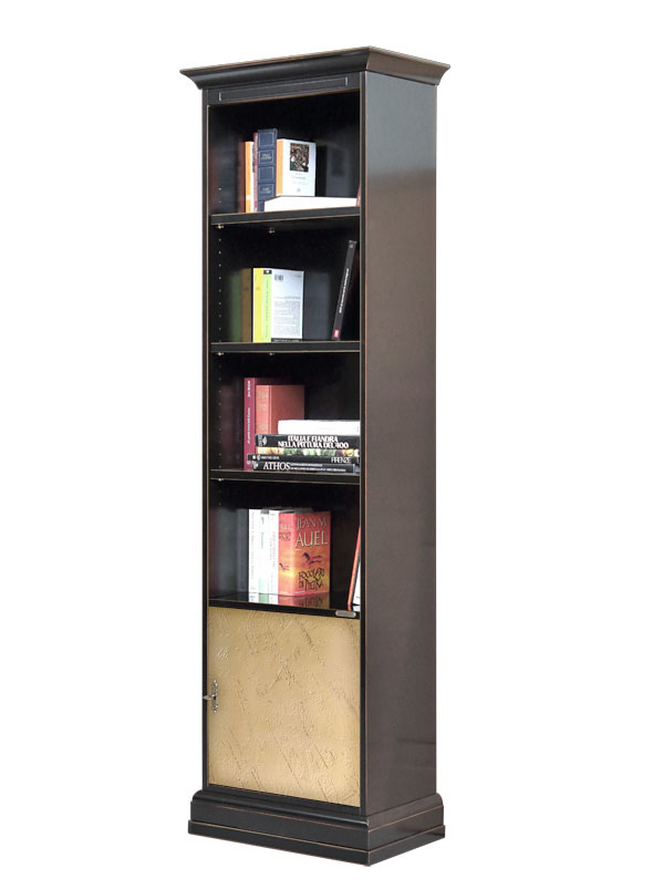 Column bookcase in wood Riace