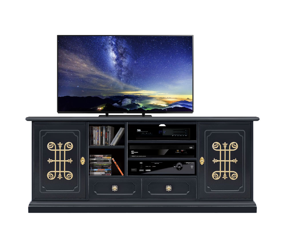 Living room entertainment TV unit You collection Black&Gold