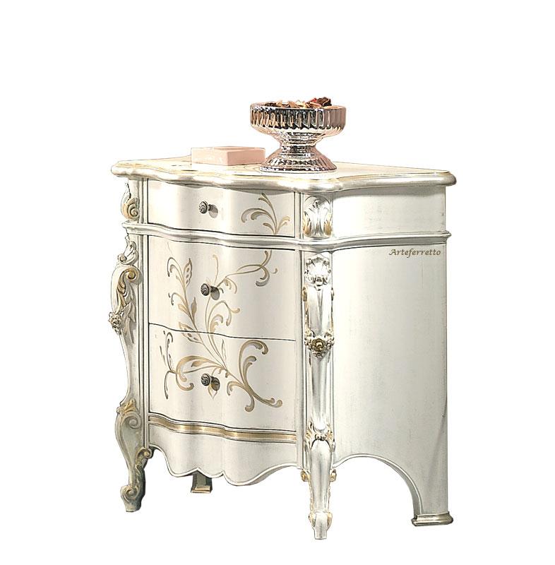 Decorated bediside table Fiori di Luna