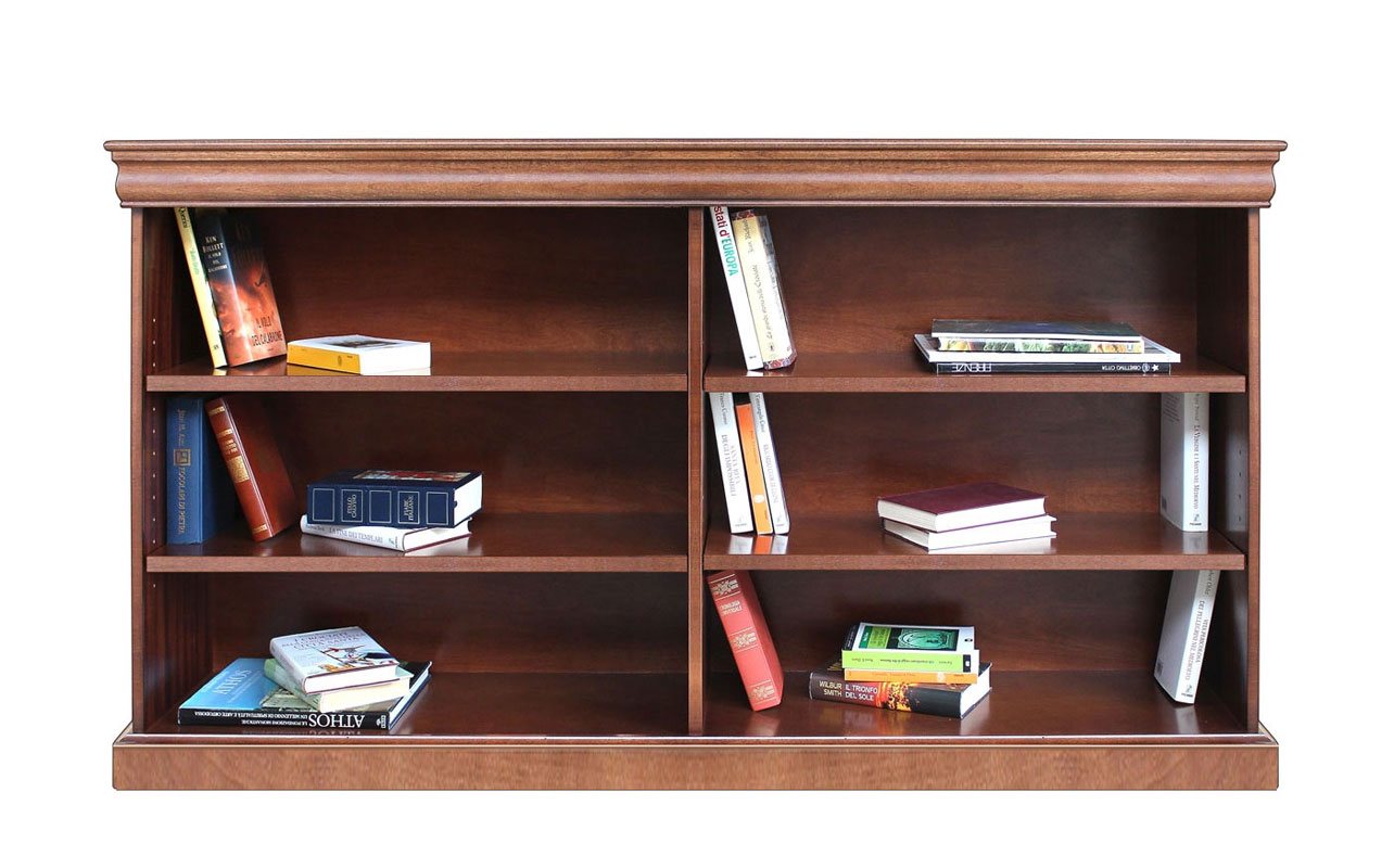 Large open shelving bookcase
