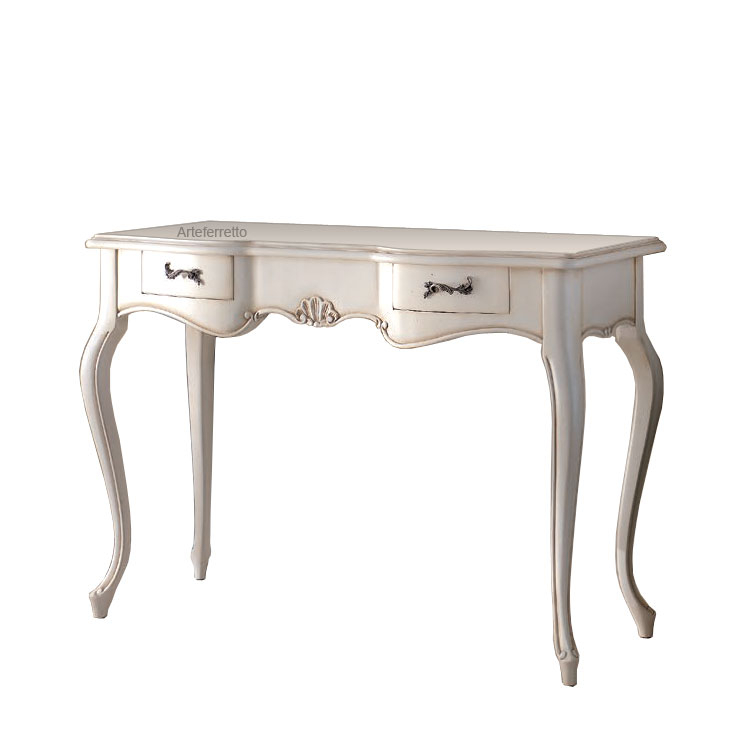 Entryway side table in solid wood ' Conchiglia bianca'