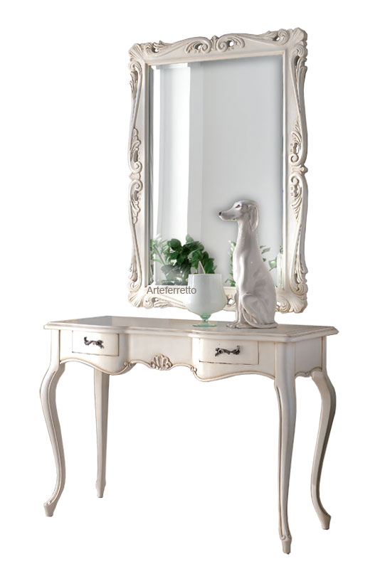 Hallway set, console table 'Conchiglia bianca'