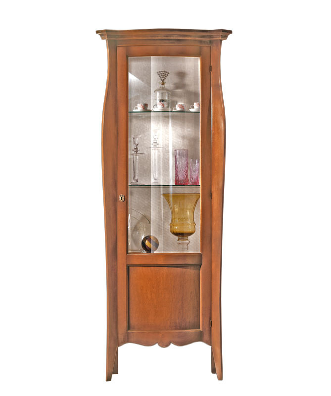Living room display cabinet, 1 door Dolce sagoma