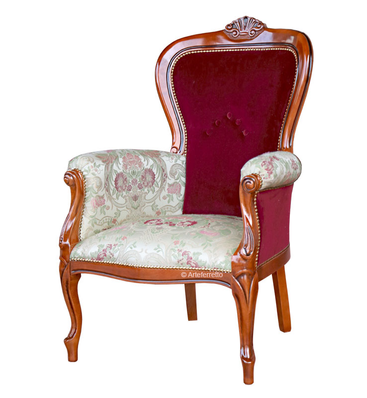 PROMO! Upholstered armchair for living room Galassia