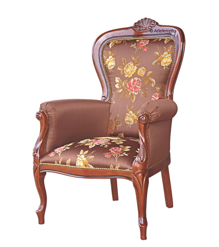 PROMO! Upholstered armchair two tone fabric