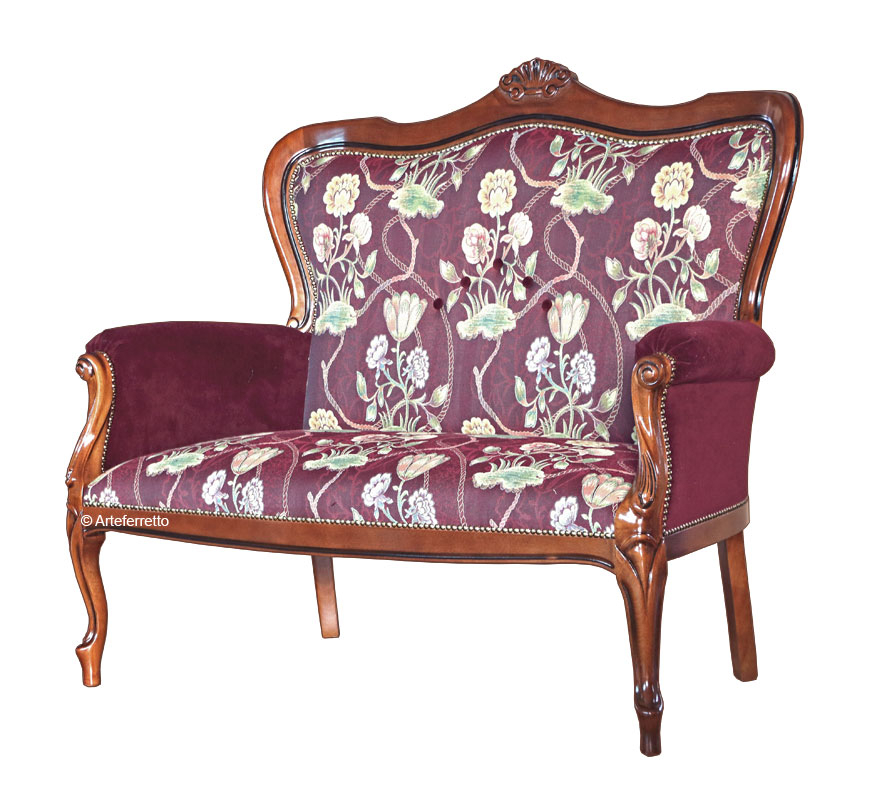 PROMO! Classic sofa, solid beech wood structure
