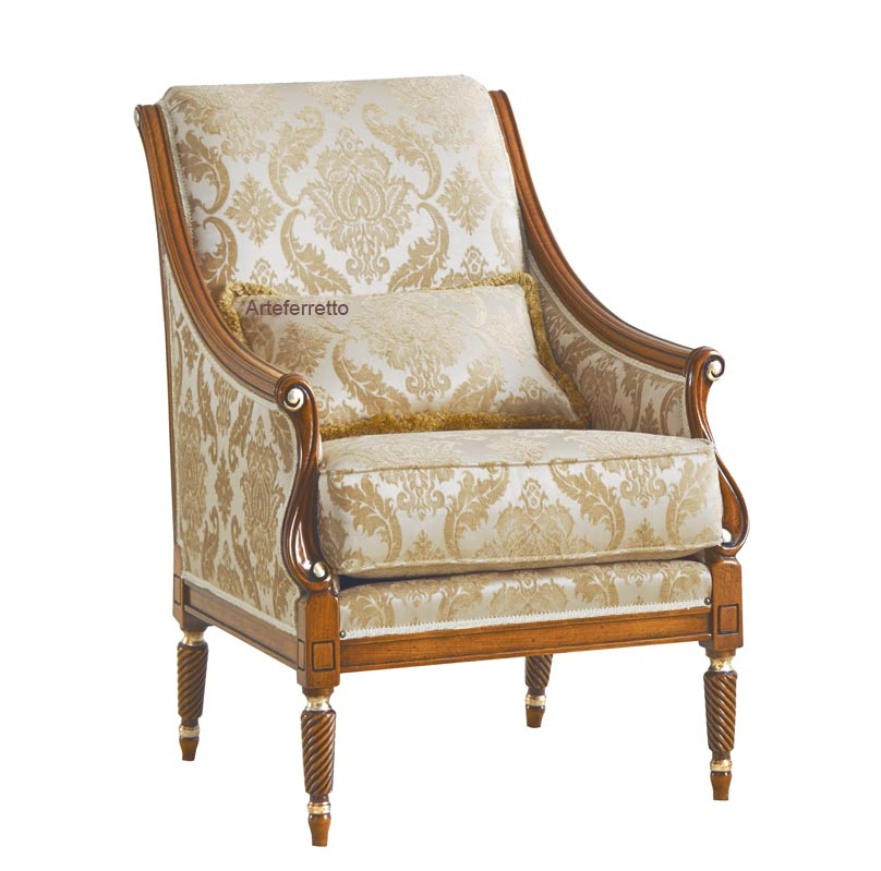 Reading armchair for living room 'Nuova America'
