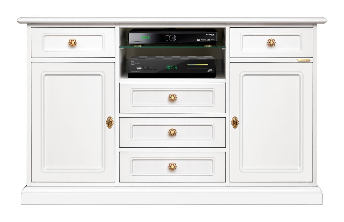 Living room entertainment TV cabinet in wood