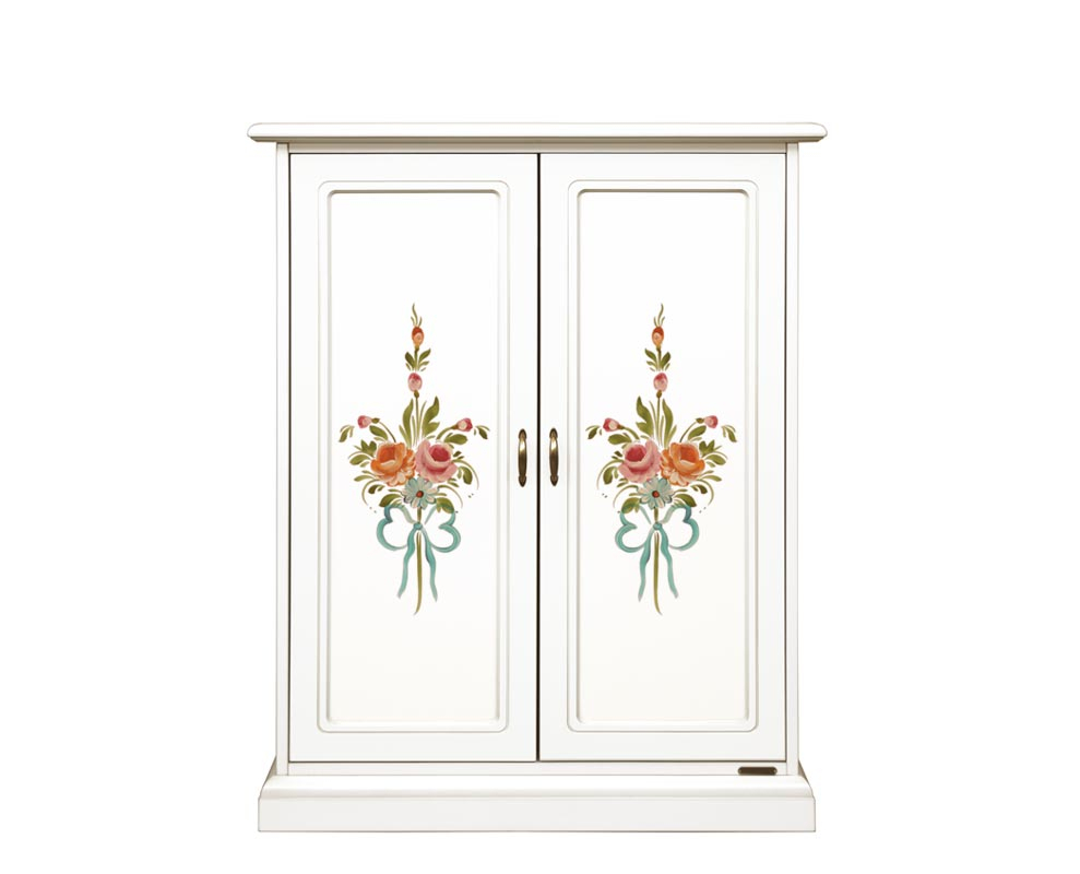 Decorated shoe cabinet 2 doors