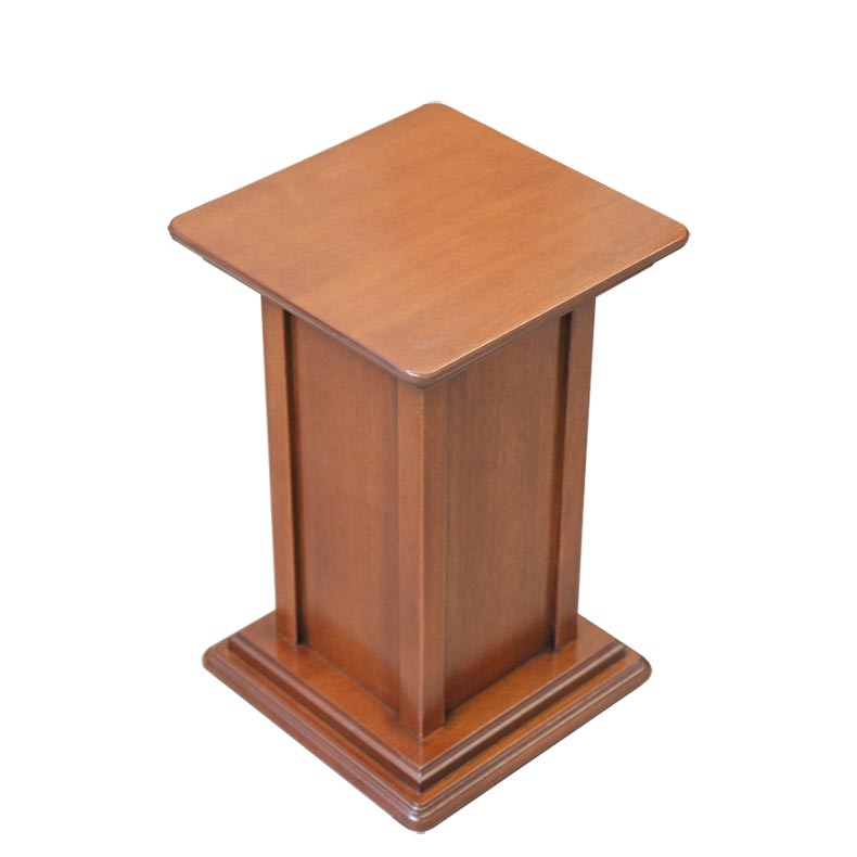 Pedestal stand in wood, 40 cm tall