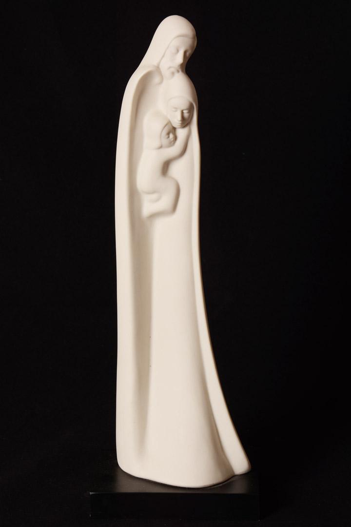 Sacra Famiglia in porcellana cm 34