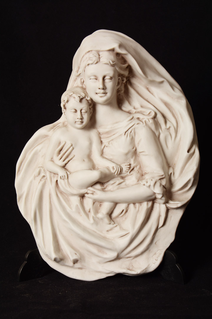 Madonna con bambino in porcellana cm 24x18