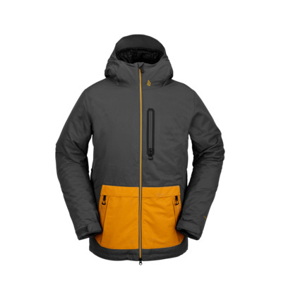 Giacca Snowboard Volcom Deadly Stone Grey Yellow '21
