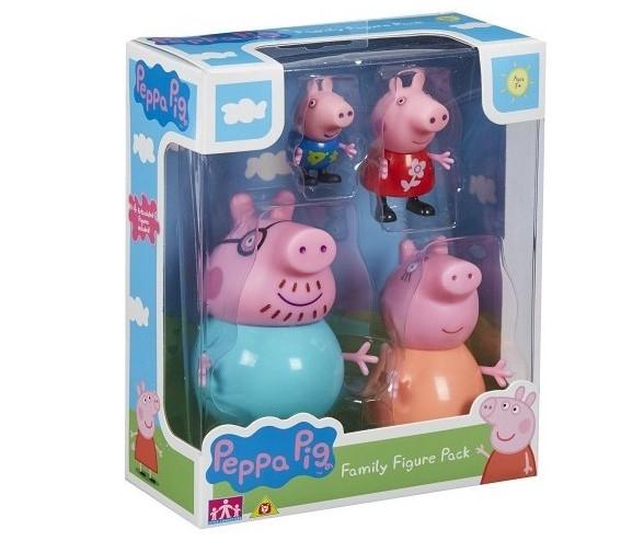 PEPPA PIG SET FAMIGLIA 4 PERS. PPC27000 GIOCHI PREZIOSI