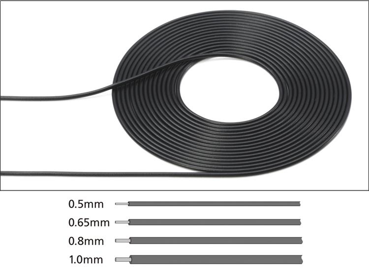 Cable (0.8 mm outer Diameter / Black)