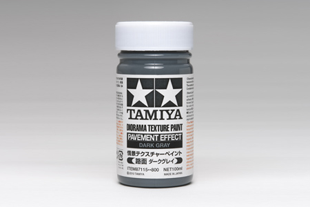 Diorama Texture Paint - Pavement effect Dark Gray