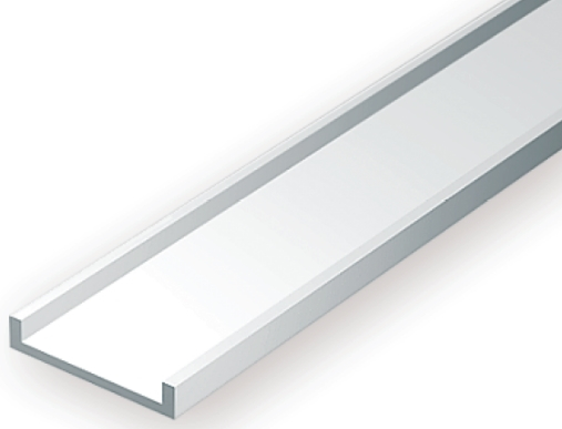 OPAQUE WHITE POLYSTYRENE CHANNEL