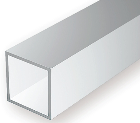 OPAQUE WHITE POLYSTYRENE SQUARE TUBING