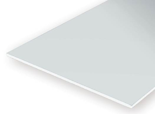 PLAIN OPAQUE WHITE POLYSTYRENE THREE SHEET ASSORTMENT PACK