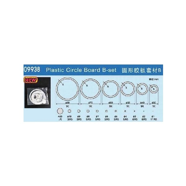 PLASTIC CIRCLE BOARD B-SET