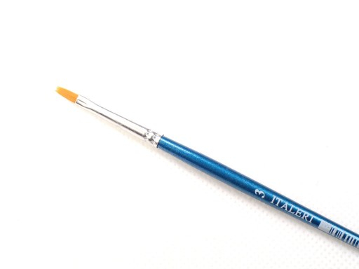 Synthetic Flat brush 3