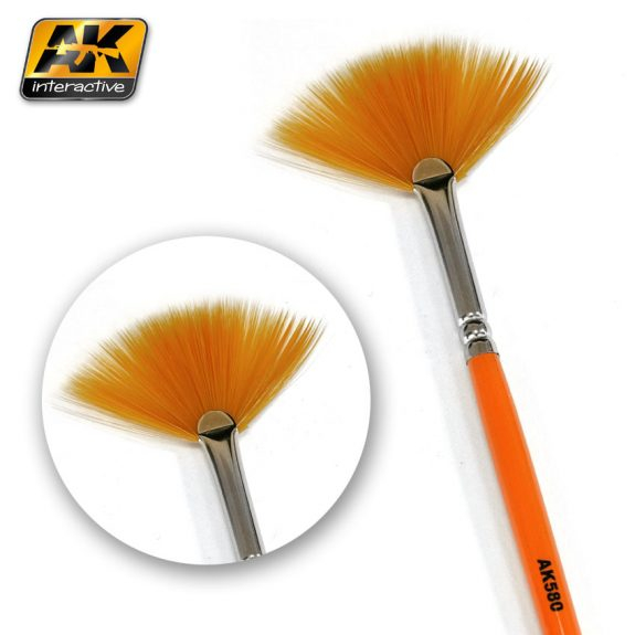 Weathering Brush Fan Shape