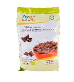 Follie di riso con crema di cacao