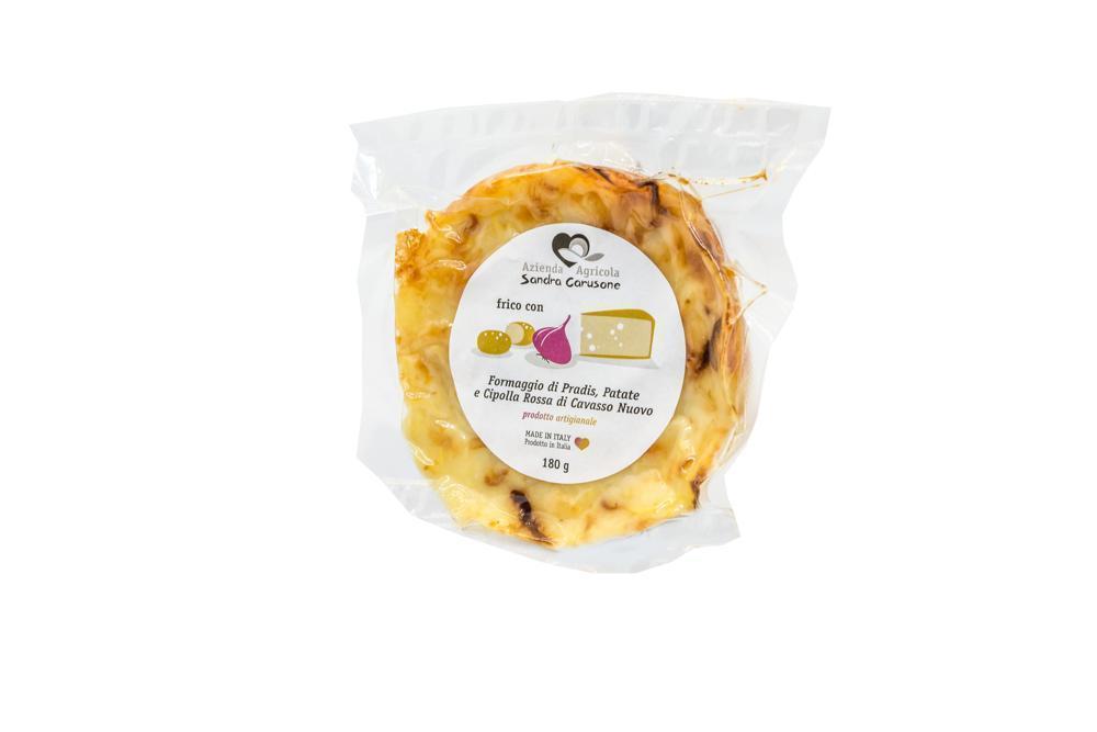 Frico con patate , formaggio di Pradis e Cipolla g180